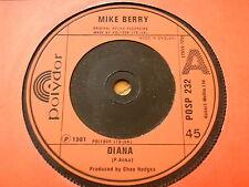 "MIKE BERRY - DIANA  7"" VINYL"