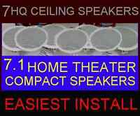 "(7-PACK) HOME THEATER CEILING WALL - COMPACT SMALL 6.5"" HQ 7.1 SPEAKERS (7X)"