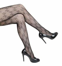 BOW LACE BLACK TIGHTS PANTYHOSE DESIGNER QUALITY HOSIERY FREE & FAST POST