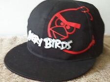 ANGRY BIRDS Black Ball Cap-Flat Bill-Plastic Adjustable Band One Size Fits Most