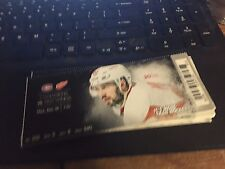 2015 DETROIT RED WINGS VS MONTREAL CANADIENS TICKET STUB 12/10 DREW MILLER