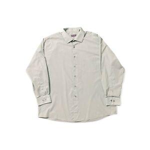 Van Heusen Mens Button Dress Shirt XL 17 1/2 32/33 Mint Green Reg Fit Stretch