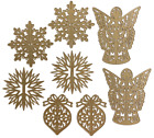 Anna Griffin Christmas 3D Ornament Dies BNIP + Damask Magnetic Sheet - SOLD OUT!