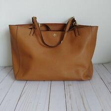 Tory Burch Emerson Brown Saffiano Leather Tote Bag Medium