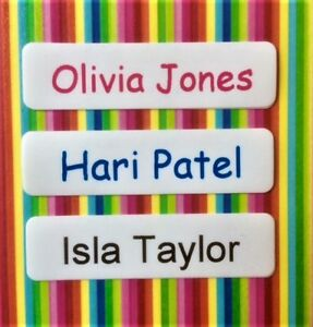 Personalised Iron On Waterproof Name Labels / School Name Tags