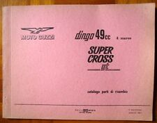 GUZZI DINGO SUPER CROSS GT CATALOGO PARTI DI RICAMBIO