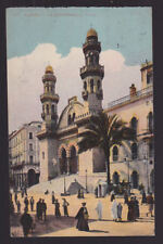 FRANCE 1920 ALGER Carte postale couverture agent maritime Olivier Co Alger Charbonnier
