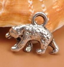 Wholesale 20PCS Tibet silver charm bear charm necklace pendant 12X15mm