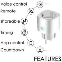 1-5x Smart WiFi Socket EU Plug 16A Power Monitor Tuya Outlet Alexa Google Home==