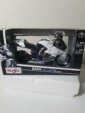 Maisto 2008 BMW HP2 Sport White 1:12 Scale Sportbike Motorcycle Model #31159 NOS