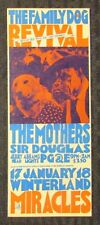 THE MOTHERS Winterland 8.25x3.25 Family Dog Concert Post Card FN+ 6.5