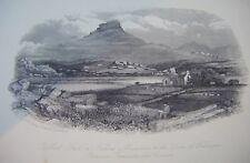 Moel Gist / Nature's Monument Duke of Wellington - Original Antique Print c1850