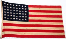 1950 Vintage US 48 Star American Flag Defiance Annin Antique Original