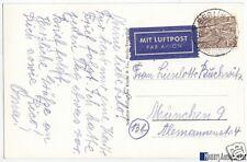 Beleg, Bedarfspost, Berlin West, Michel 48 EF, Luftpostkarte nach München, 1956