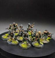 Painted 28mm Bolt Action German early war Blitzkrieg waffen ss ×10 Squad #1