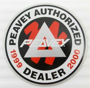 Peavey Vintage 1999 Authentic Authorized Music Dealer TWO SIDED Window Decal NOS