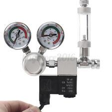 Aquarium CO2 Pressure Regulator System Magnetic Solenoid Bubble Counter