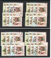 GB Commems, al por mayor -1978 - Navidad-ocho conjuntos-Fino cancelaciones