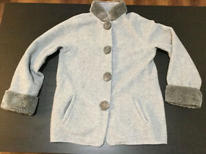 Laurence Tavernier Paris Women's Gray Coat Bed Jacket Size Medium
