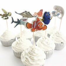 12x Finding Dory Nemo Cupcake Food Cake TOPPER. Party Supplies Lolly Bag Bunting