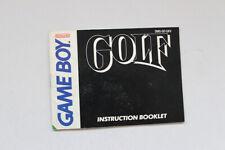 Golf Instruction Manual Nintendo Gameboy