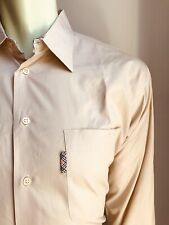 Burberry Shirt, Dusty Peach Solid, Large, Cotton, Exc Cond