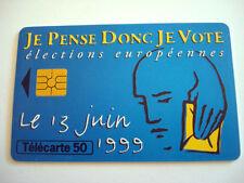 PHONECARD TELECARTE POLITIQUE ELECTIONS EUROPEENNES 13 JUIN 1999