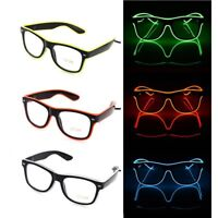 LED EL Glasses Light Up Glow Sunglasses Eyewear Shades for Nightclub Party Gifts