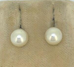 Studs Pearl Ø 6.6 MM 585er Gold Akoya Pearl