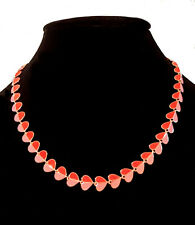 Kate Spade New York Folded Heart Necklace Pink & Red Gold Plated NEW