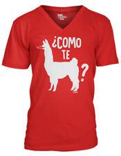 Como Te Llama -Cinco de Mayo Mexico Drink Margarita Mustache MensVee T-Shirt