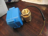 "DC12V DN15 CR02 Electrical Valve G1/2""  2 Way 3-Wire Brass Motorized Ball Valve"