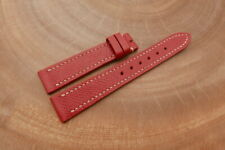 18mm/16mm Red Genuine EPSOM CALF Skin Leather Watch Strap Band Hanmade