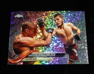 """Khabib Nurmagomedov UFC ~ 2018 Topps Chrome UFC REFRACTOR """"Hot Box"""" Rare"""