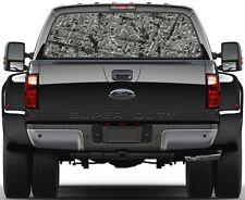 Steel Plate Bullet Proof  Rear Window Graphic Decal Truck SUV Van Car