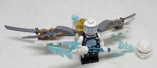 Lego Zane mit viel Zubehör Figur Minifigur aus Set 70730 Ninjago