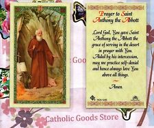 St. Saint Anthony the Abbott - Prayer to St. Anthony - Laminated Holy Card