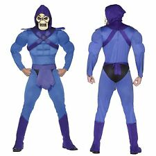 Adults 80s He Man Masters of The Universe Skeletor Fancy Dress Costume Large