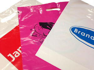 """Plastic Carrier bags Mixprint Misprinted 15x18x3"""" Clearance x 350"""