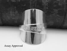 SCARCE EXETER GEORGIAN SOLID STERLING SILVER SPOON RING SIZE:  T½