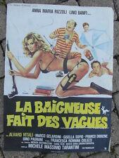 POSTER AFFICHE CINEMA EROTIC 80's / LA BAIGNEUSE FAIT DES VAGUES ANNA RIZZOLI
