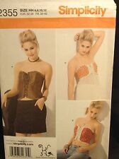 Simplicity 2355 Women Steam Punk Gothic Pattern Size HH 6, 8 10, 12 FF Uncut New