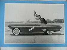 """12 By 18"""" Black & White Picture 1954 Lincoln Capri Convertible Top !/2 Way Up"""