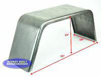 """Steel Square Utility Trailer Fender Jeep Style 10"""" x 32"""" x 13"""""""
