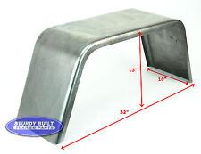 "Steel Square Utility Trailer Fender Jeep Style 10"" W x 32"" L x 13"" T 16 Gauge"