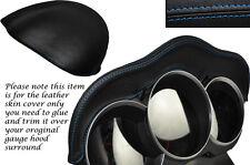 BLUE Stitch Si Adatta Mazda AVVIAMENTO A 2003-2012 Speedo Gauge cappuccio Pelle Pelle coprire solo