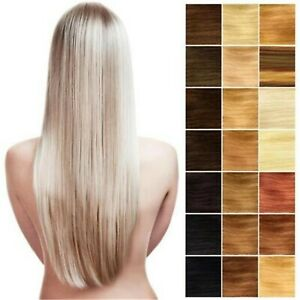 220g 12PCS Full Head Clip In Real Human Hair Extensions Virgin Remy Double Weft