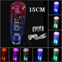 Shift Knob Stick Crystal Transparent Bubble RGB Color Throw Gear Shifter 15cm