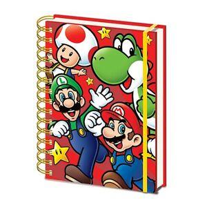 Genuine Super Mario Run A5 Wiro Hardback Journal Notebook Note Pad Luigi Yoshi