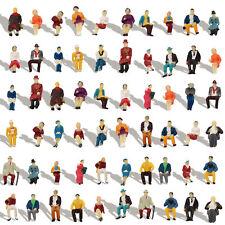 60 Stk. Verschieden Sitzende Figuren Spur H0 1:87 Mini Passanten 30 Posen Dekor